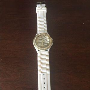 Accessories - Ladies watch. White rubber strap